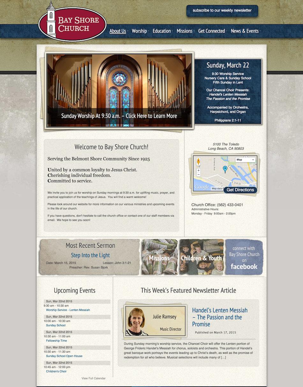 showcase - bayshorechurch - home page 1