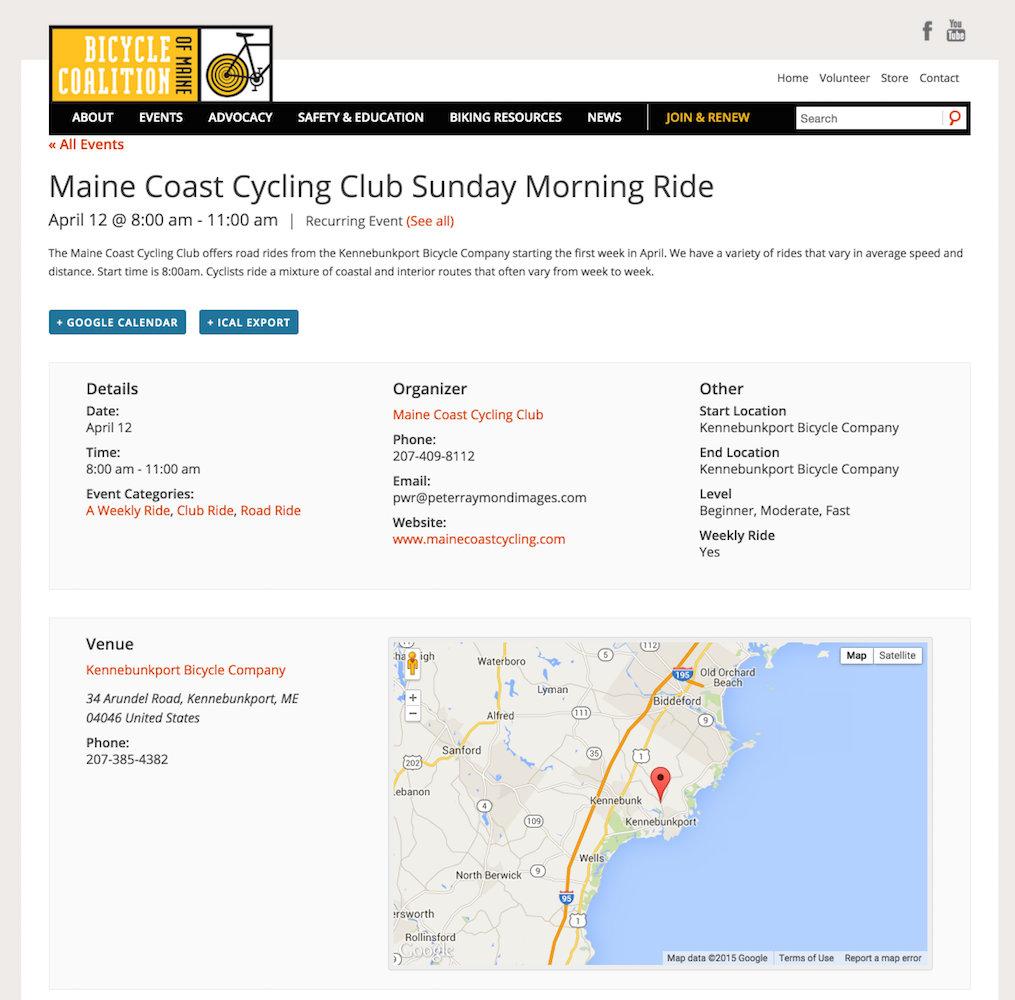 showcase - bicycle coalition - single event