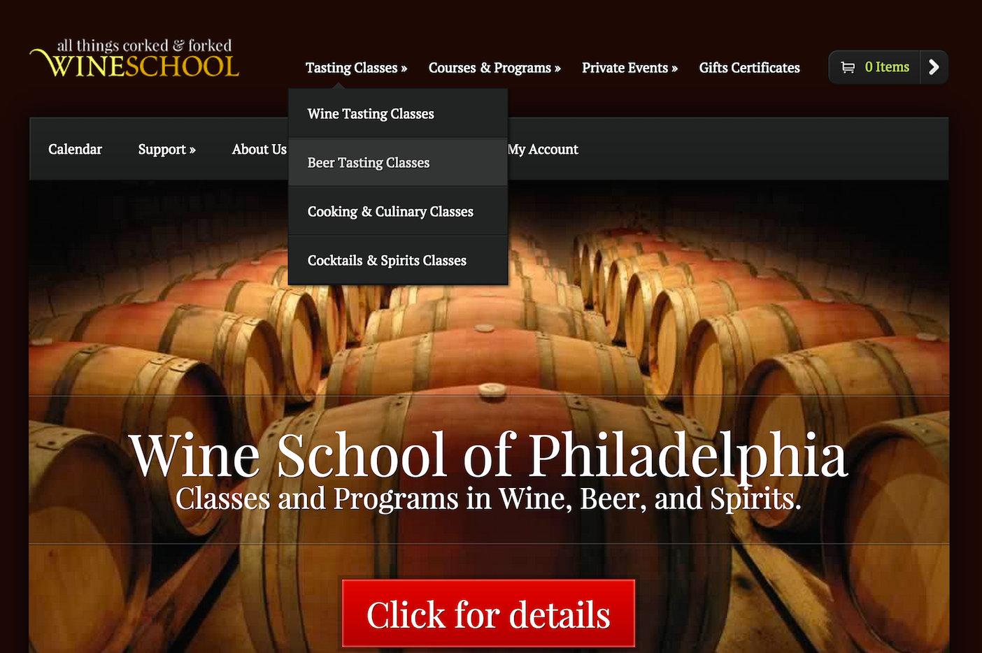 showcase - wine school - home page 1