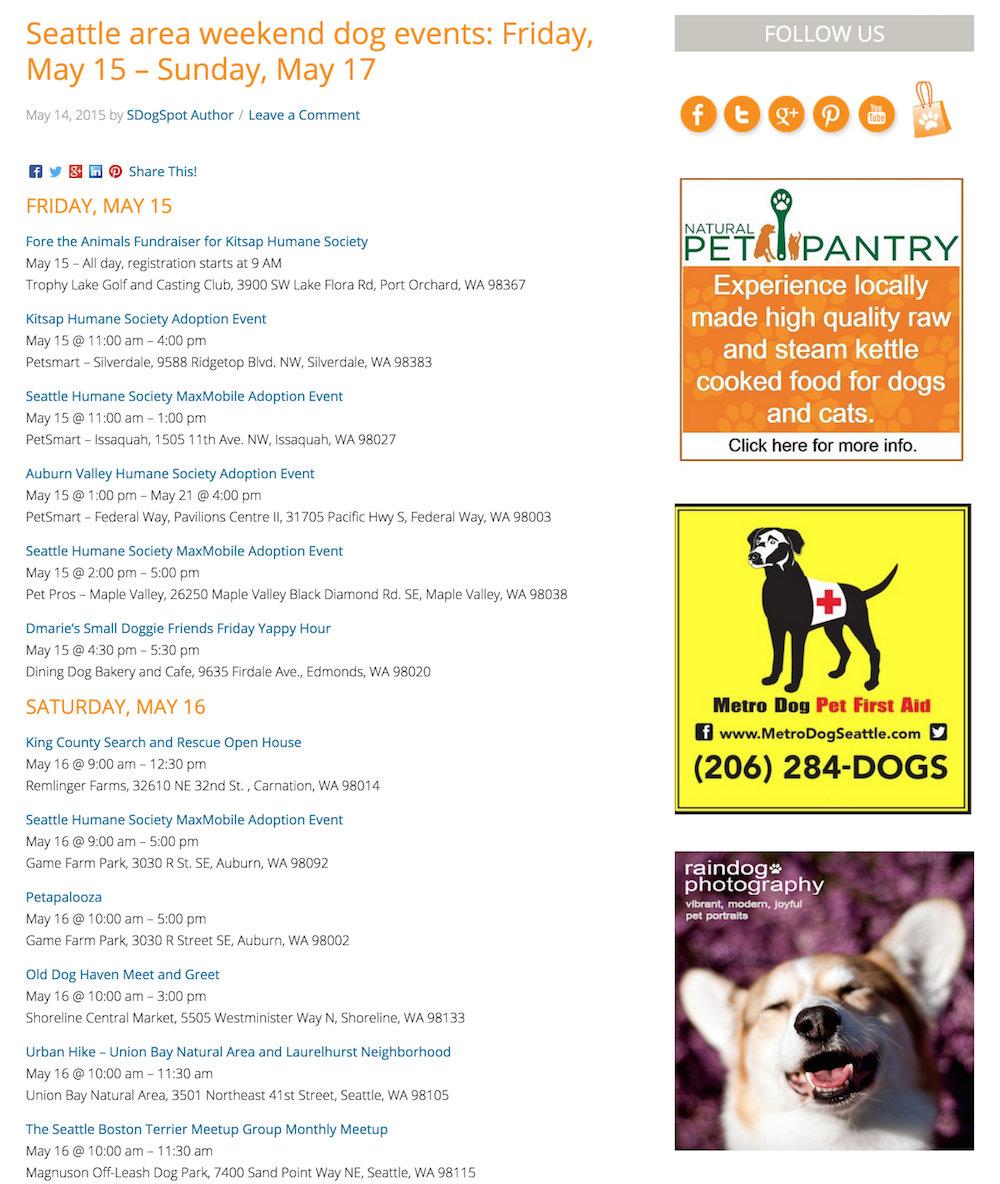 showcase - dogspot - blog post