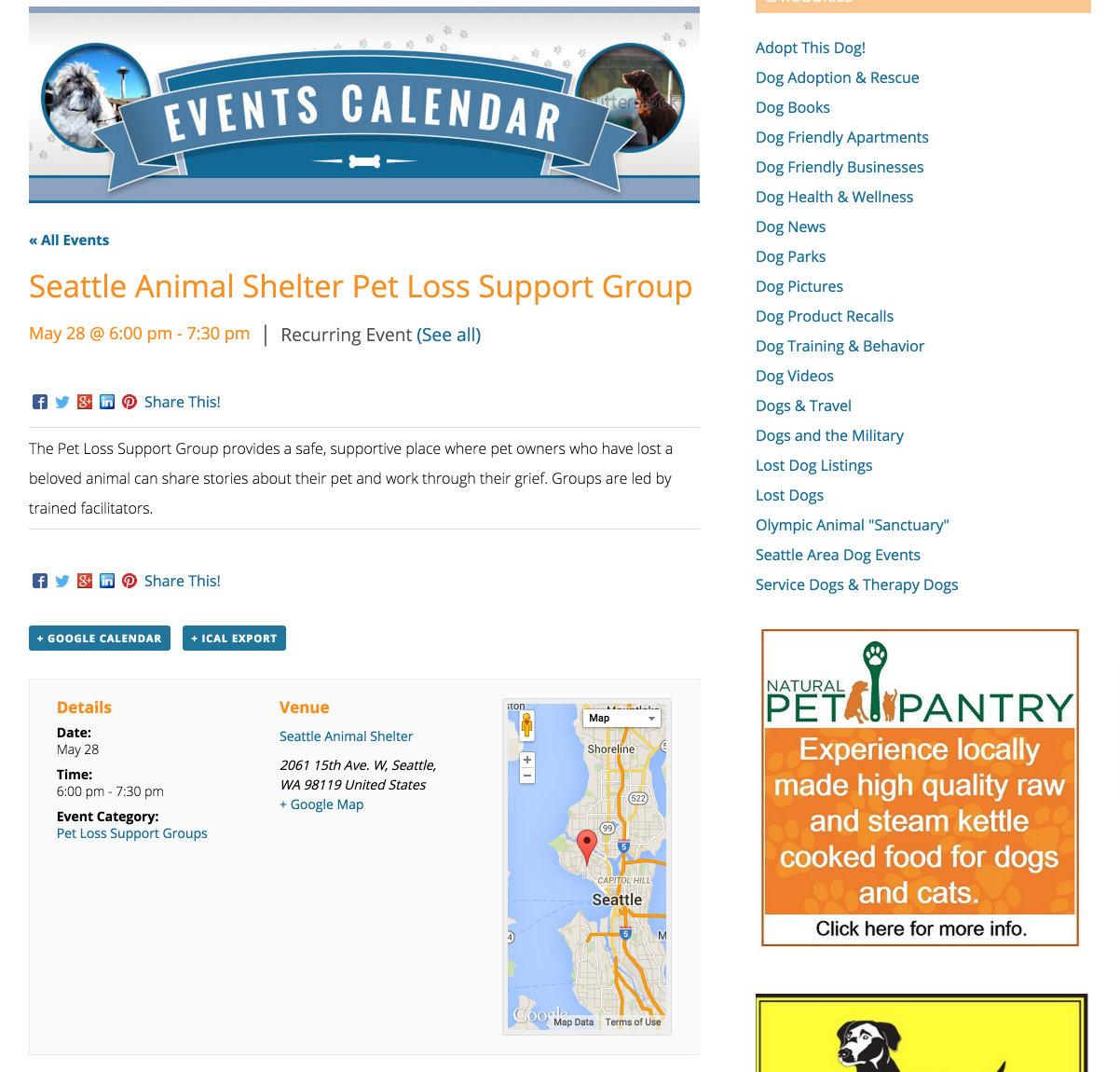 showcase - dogspot - single event