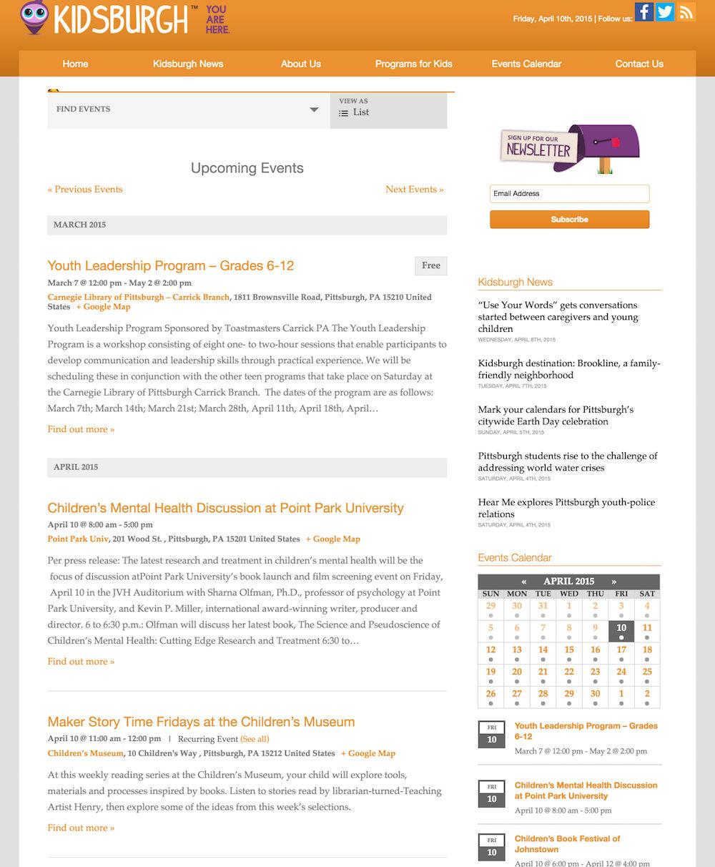 showcase - kidsburgh - list view