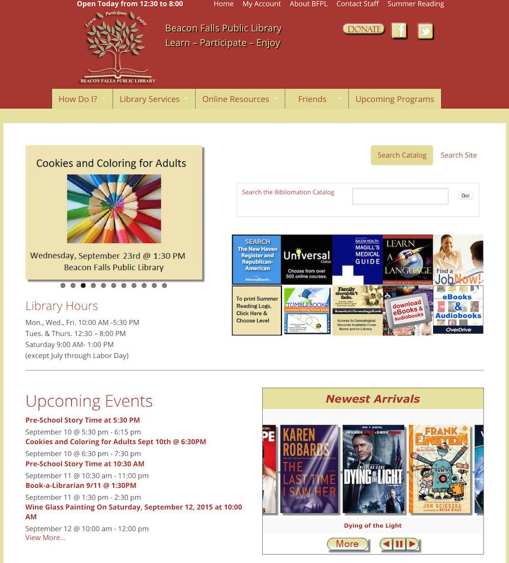 showcase - Beacon library - homepage