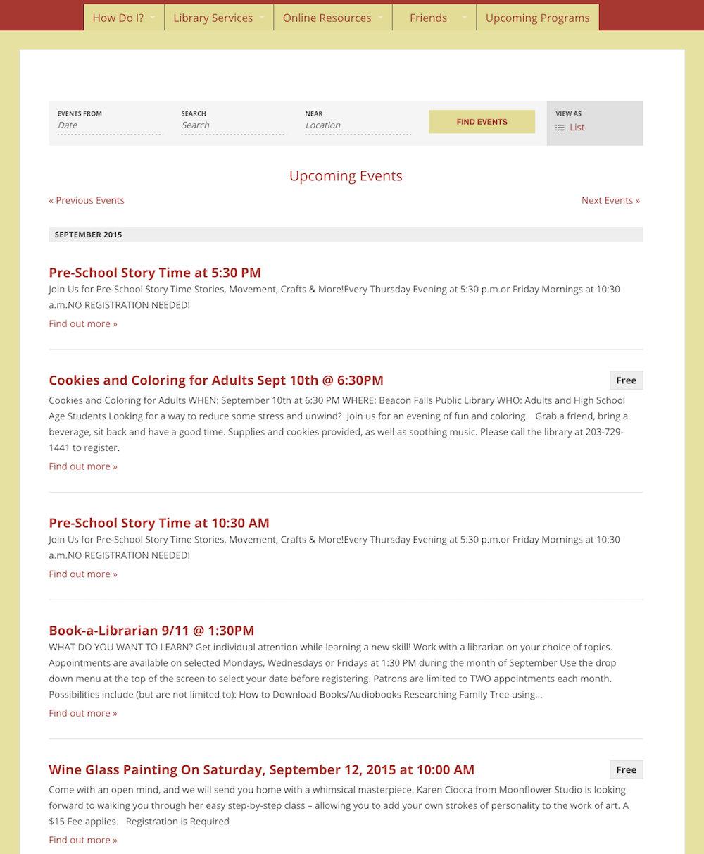 showcase - Beacon library - list view