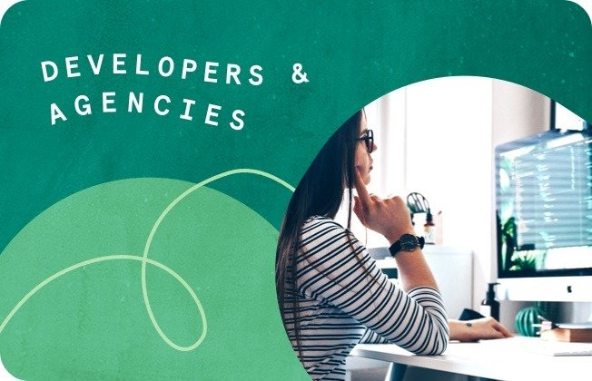 Developers and agencies against a green background