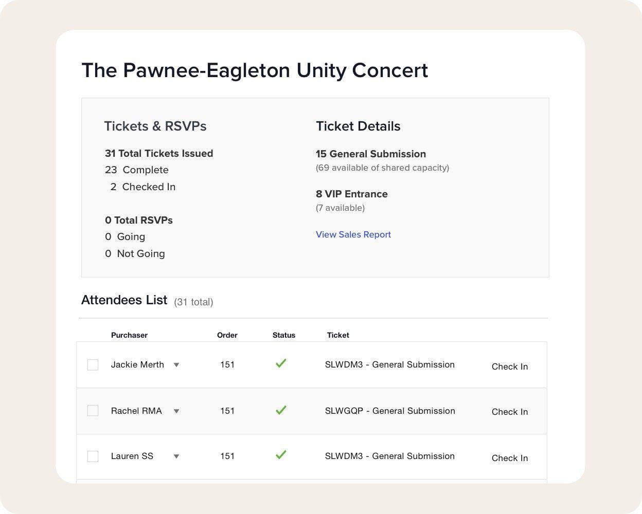 Robust ticket management