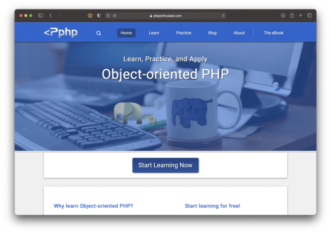 PHP Enthusiast website.