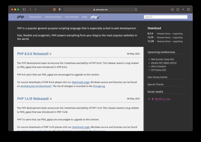 PHP.net website.