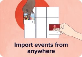 Import events from anywhere