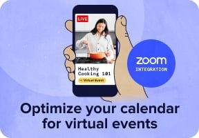 Optimize your calendar for virtual events with Zoom integration.