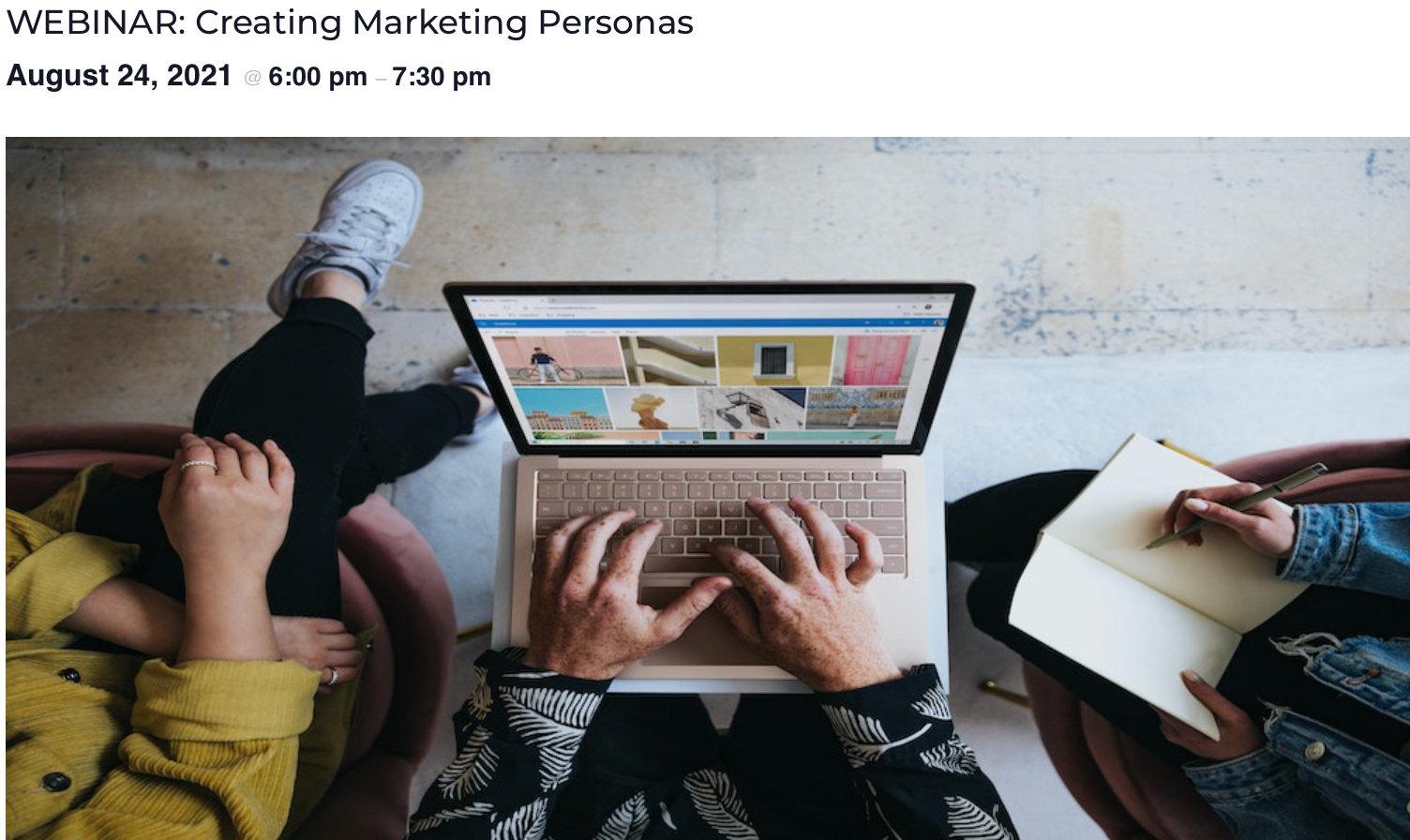 Hands on a laptop header image